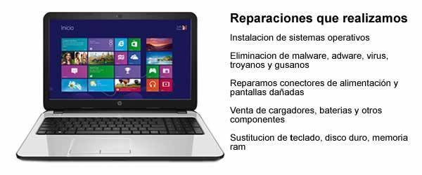 Servicio técnico portátilesMacBook